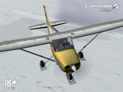 Screen shot for Carenado C172 Skyhawk II Ski Plane (FOR FSX)