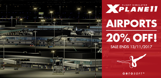 AEROSOFT X-PLANE AIRPORTS SALE 20% OFF - for one week only!