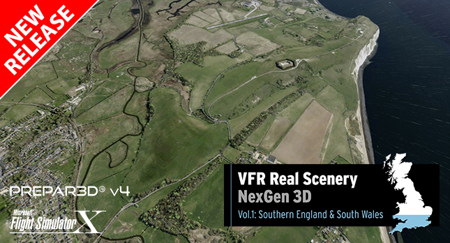 JUST FLIGHT VFR Real Scenery NexGen 3D – Vol  1: Southern England
