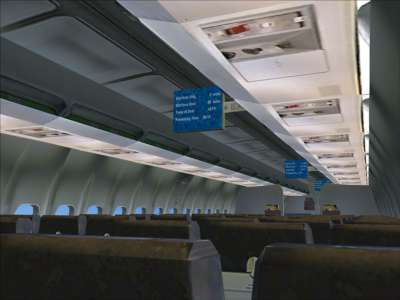 New in FSX - in-flight information screens (1)