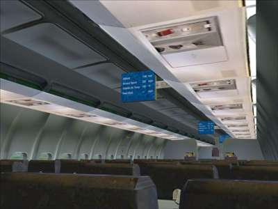 New in FSX - in-flight information screens (2)