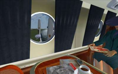 Passenger cabin - view out of window