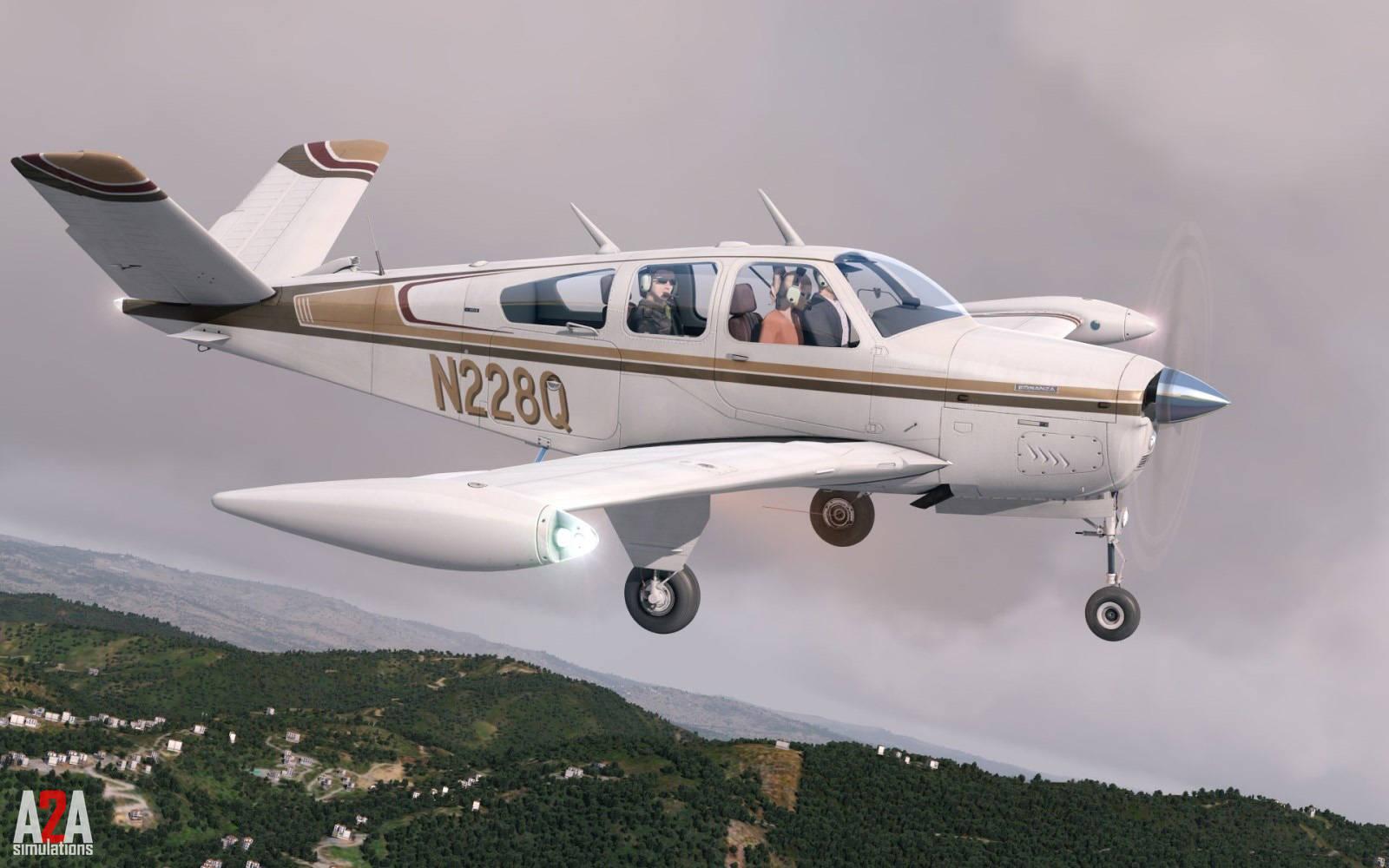 Just Flight - A2A Simulations Accu-Sim Bonanza (for P3D v4