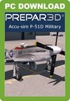 A2A Simulations Accu-sim P-51D Military (for P3D v4/v5 Academic)