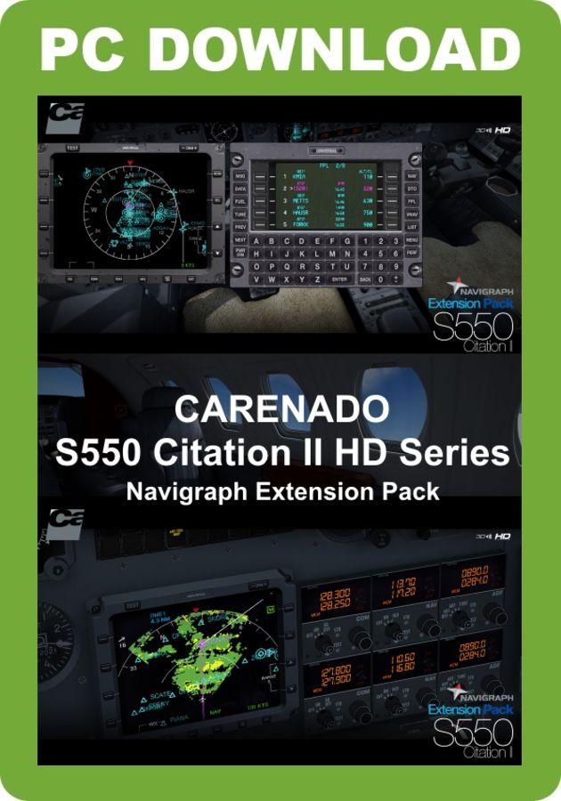 Just Flight - Carenado S550 Citation II HD Series - Navigraph