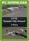 CYTZ Toronto City Airport Toronto City Airport and scenery of downtown Toronto