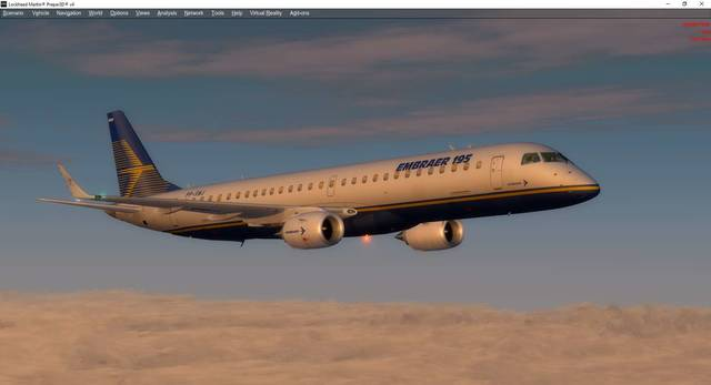 Embraer E-Jets v2 Embraer 175 and 195 P3D