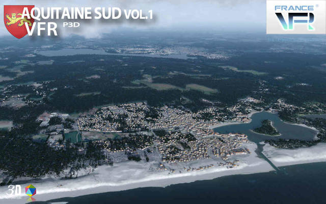France VFR - Aquitaine Vol.1 (for P3D v4)