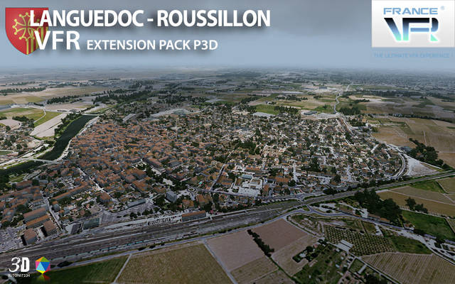 France VFR - Languedoc-Roussillon Extension Pack (for P3D v4)