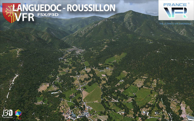 France VFR - Languedoc-Roussillon (for FSX & P3D v1-v3)