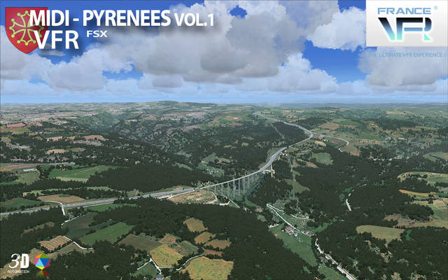 France VFR - Midi-Pyrénées Vol.1 (for FSX)