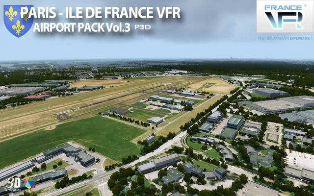 Just Flight - France VFR - Paris-Ile de France Airport Pack