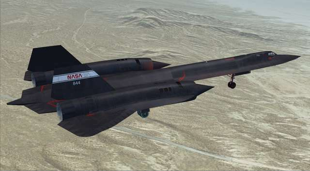 Glowing Heat SR-71 Blackbird