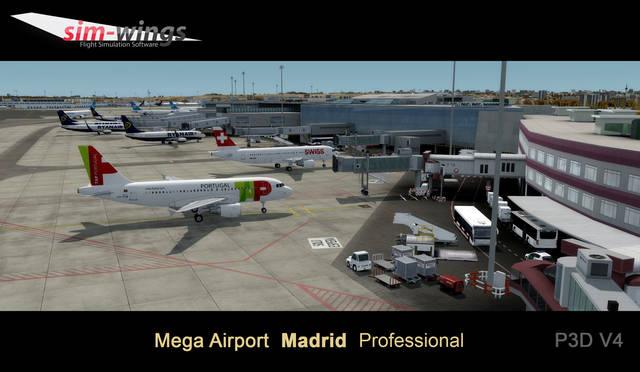 Just Flight - Mega Airport Madrid Professional
