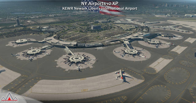 New York Airports XP v2 - KEWR KLDJ KCDW