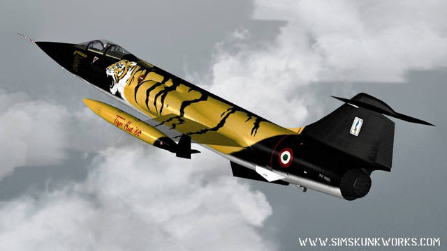 Sim Skunk Works Aeritalia-Lockheed F-104S (for FSX)