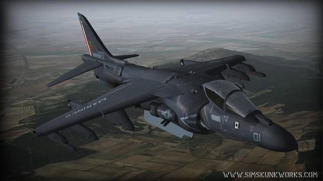 Sim Skunk Works AV-8 B Harrier II (for P3D v4)