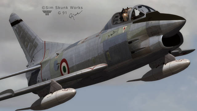 Sim Skunk Works Fiat G.91 (for FSX)