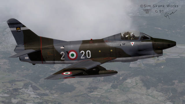 Sim Skunk Works Fiat G.91 (for P3D v4)