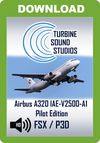 TSS Airbus 320 IAE-V2500-A1 Pilot Edition Sound Package