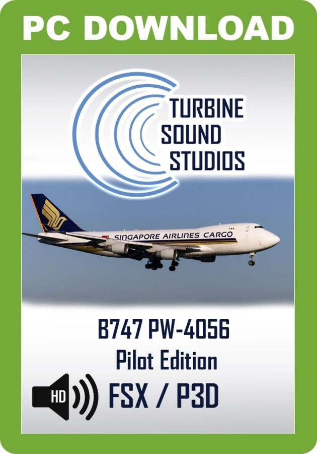 TSS Boeing 747 PW-4056 Pilot Edition Sound Package - Just Flight