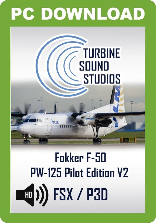 TSS Fokker F-50 PW-125 Pilot Edition V2 Sound Package - Just Flight